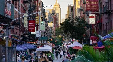 Saat Jalanan Kota New York Jadi Area Makan