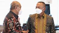Ganip Warsito dalam acara Serah Terima Jabatan Kepala BNPB di Graha BNPB, Jakarta pada Selasa, 25 Mei 2021. (Badan Nasional Penanggulangan Bencana/BNPB)