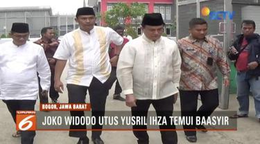 Presiden Jokowi utus Yusril Ihza temui Abu Bakar Baasyir untuk membahas pembebasan bersyarat.