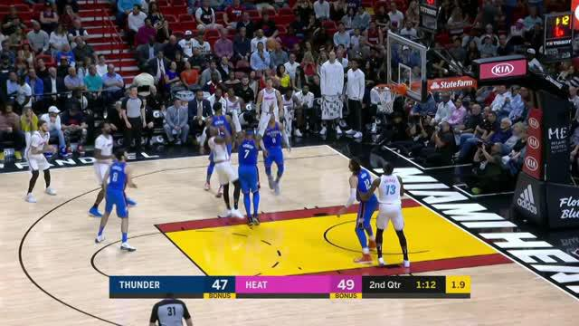 Berita video game recap NBA 2017-2018 antara Oklahoma City Thunder melawan Miami Heat dengan skor 115-93.