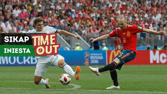 Berita video Time Out kali ini tentang sikap luar biasa Andres Iniesta bersama Timnas Spanyol di Piala Dunia 2018.