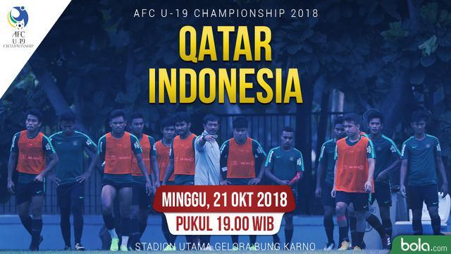 Jadwal Timnas Indonesia U19, Laga Kedua Lawan Qatar  Bola Liputan6.com