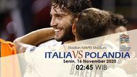 Italia akan berhadapan dengan Polandia dalam lanjutan UEFA Nations League (Liputan6.com / Triyasni)