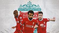 Liverpool - Fabinho, Mohamed Salah, Diogo Jota (Bola.com/Adreanus Titus)