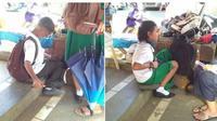 Perjuangan dua bocah bersaudara jadi tukang jahit sepatu agar bisa makan siang di sekolah. (Sumber: Elite Readers)