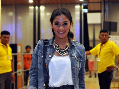 Naysila Mirdad saat ditemui di Indonesia Convention Exhibition (ICE) untuk menonton konser Katy Perry, Tangsel (9/5/2015). (Liputan6.com/Panji Diksana)