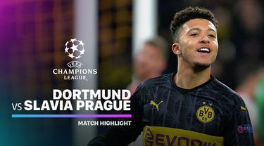 Berita Video Highlights Liga Champions, Borussia Dortmund Vs Slavia Praha 2-1