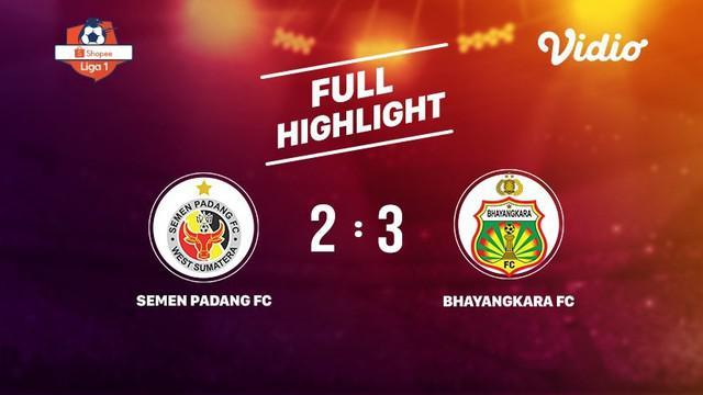 Laga lanjutan Shopee Liga 1, Semen Padang FC VS Bhayangkara FC berakhir  2-3 #shopeeliga1 #Semen Padang FC #Bhayangkara FC