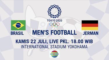 Berita video jangan lewatkan live di Indosiar! Laga sepak bola putra Olimpiade Tokyo 2020, Mesir vs Spanyol dan Timnas Brasil vs Jerman.