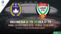 AFC U19 Indonesia U19 Vs UEA U19 (Bola.com/Adreanus Titus)