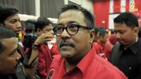 Artis yang juga Wakil Gubernur Tangerang, Rano Karno ikut hadir di Rakernas PDI-P (Liputan6.com/ Andrian M Tunay)