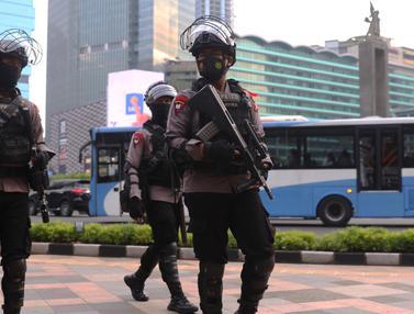 Malam Takbiran, Polisi Bersenjata Bersiaga di Ibu Kota
