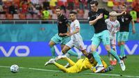 Austria mengalahkan Makedonia Utara pada penyisihan Grup C Euro 2020 di National Arena, Bucharest, Rumania. (AFP/Daniel Mihailescu)
