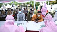 Badan Intelijen Negara (BIN) menyelenggarakan test usap massal untuk warga di Lapangan Kayu Manis, Kelurahan Kayu Manis, Kecamatan Tanah Sareal, Kota Bogor, Selasa (9/2/2021). (Ist)