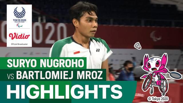 Berita Video, Highlights Suryo Nugroho Vs Bartlomiej Mroz di Paralimpiade Tokyo 2020 pada Kamis (2/9/2021)