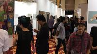 Penikmat seni akan termanjakan dengan kembalinya Art Jakarta yang menampilkan beragam karya seni dan instalasi. Foto: Unoviana/ Liputan6.com.