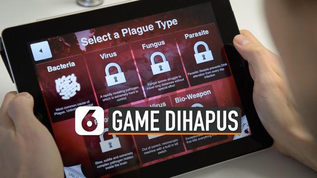 Gim strategi Plague Inc. dihapus dari App Store China. Hal itu dikarenakan gim tersebut termasuk konten ilegal, sesuai ketentuan administrasi dunia maya China.