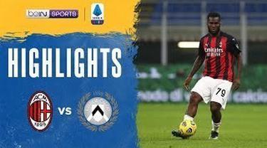 Berita video highlights Liga Italia, AC Milan Vs Udinese. Frank Kessie cetak gol penyelamat AC Milan, Kamis (4/3/21)