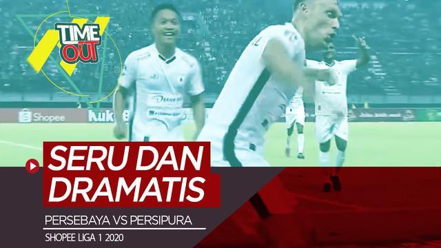 Berita video Time Out Shopee Liga 1 2020 kali ini membahas pertandingan pada pekan ketiga, Persebaya vs Persipura yang berlangsung seru dan dramatis.