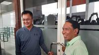Menteri Pemuda dan Olahraga (Menpora), Zainudin Amali melakukan kunjungan kerja ke Stadion Gelora Bung Tomo (GBT), Surabaya. (Foto: Liputan6.com/Dian Kurniawan)