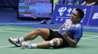 Markis Kido/Hendra Setiawan menang lewat rubber game, 16-21, 26-24, 21-19. (Foto: AFP/Liu Jin)
