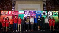 Para pemain dari tim peserta Asian Basketball League 2018-2019, pada konferensi pers di Manila, Selasa (16/10/2018). (CLS Knights Indonesia)