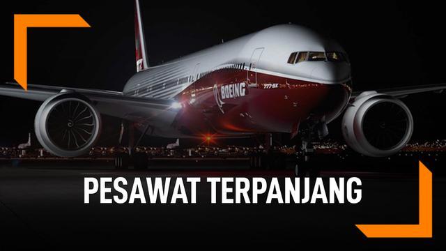 Fakta Boeing 777X, Pesawat Terpanjang di Dunia