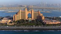 Menjadi hotel termahal di dunia, Atlantis The Palm Dubai menawarkan pemandangan kemilauan Laut Arab dan Dubai skyline dari dalam kamar. Foto: Rochmanuddin/ Liputan6.com.
