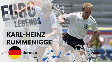 Berita motion grafis profil legenda Karl Heinz-Rummenigge, pemain Jerman peraih 2 Ballon d'Or secara beruntun.
