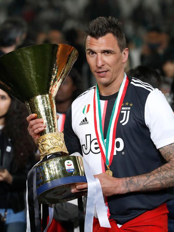 Striker Juventus, Mario Mandzukic (AP Photo/Antonio Calanni)