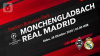 Borussia Monchengladbach vs Real Madrid (Liputan6.com/Abdillah)