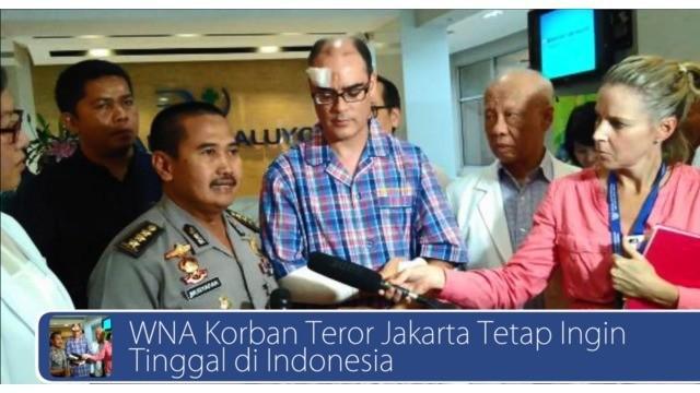 Bukannya takut, warga negara asing korban teror Thamrin ini tetap ingin tinggal di Jakarta dan pariwisata Indonesia berhasil mengalahkan Malaysia dengan merebut 7 penghargaan sekaligus