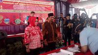 Lembaga Pemasyarakatan (Lapas) Klas II B Garut, Jawa Barat, mendirikan pondok pesantren (ponpes) dengan nama Taubatul Mudznibin untuk narapidana. (Liputan6.com/Jayadi Supriadin)