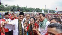 Ketua Umum PDIP Megawati Soekarnoputri menghadiri kampanye akbar di Pilgub Sumatera Utara, Djoss di Stadion Baharoeddin Siregar. (istimewa)