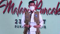 Ketua Satgas COVID-19 Doni Monardo bercerita bantu batalkan mutasi Komandan Lapangan RSDC Wisma Atlet Letkol Arifin di Kemayoran, Jakarta, Selasa (23/3/2021). (Badan Nasional Penanggulangan Bencana/BNPB)