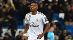1. Rodrygo Goes (Real Madrid) - Pemain berusia 19 tahun ini menunjukkan penampilan yang menarik bersama Real Madrid musim lalu. Rodrygo bermain apik dan mampu berkolaborasi dengan pemain senior dalam setiap pertandingan. (AFP/Gabriel Bouys)