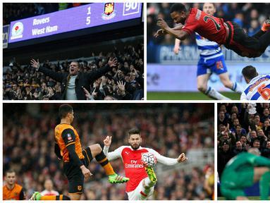 Inilah 10 foto terbaik putaran kelima Piala FA Inggris. (AFP/Reuters)