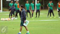 Pelatih tim nasional Indonesia, Luis Milla Aspas (Liputan6.com/Helmi Fithriansyah)