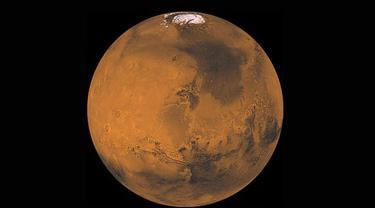 Penampakan awan di Planet Mars (NASA)