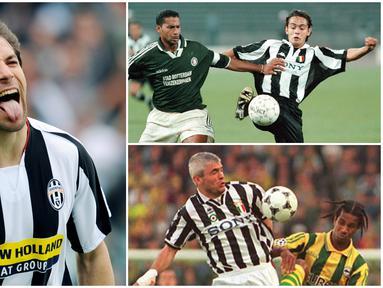 Berikut ini adalah para penyerang top yang pernah dimiliki Juventus pada era-90an. Diantaranya Roberto Baggio, Alessandro Del Piero hingga Filippo Inzaghi. (Foto Kolase AFP)