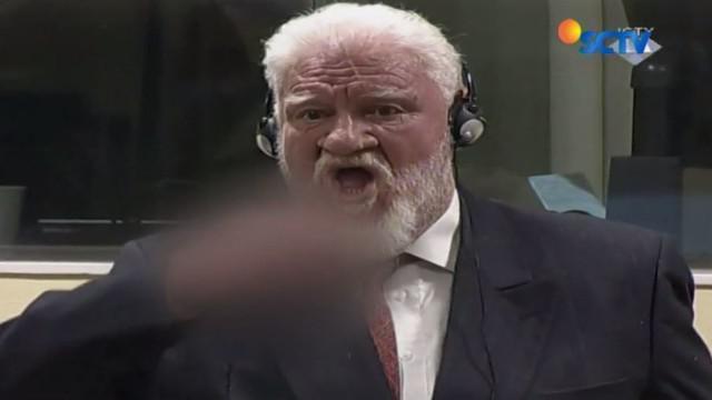 PBB menggelar sidang pengadilan internasional untuk kejahatan perang bekas Yugoslavia di Den Haag, Belanda, Rabu, 29 November 2017.