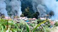 Usai aksi pembakaran puskesmas oleh KKB di Kiwirok Papua, nasib dua orang tenaga kesehatan yang bertugas di tempat tersebut belum diketahui. (Liputan6.com/ istimewa)