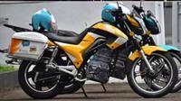Lihat ksi Ridwan Kamil tes sepeda motor listrik Karya Anak Bangsa