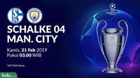 Liga Champions: Schalke 04 Vs Manchester City (Bola.com/Adreanus TItus)