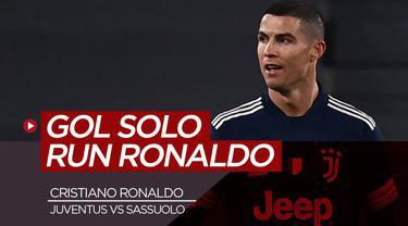 Berita video bintang Juventus, Cristiano Ronaldo mencetak gol keren saat Juventus kalahkan Sassuolo, Senin (11/1/21)