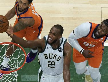 Foto: Habisi Phoenix Suns, Milwaukee Bucks Samakan Agregat Kemenangan di Game Keempat Final NBA 2021