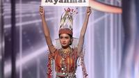 Miss Myanmar Dinyatakan Menang National Costume Miss Universe 2020/dok. Instagram @thuzar_wintlwin