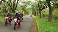 Menjajal performa Suzuki GSX-S150 Jakarta-Puncak-Jakarta. (Herdi Muhardi))