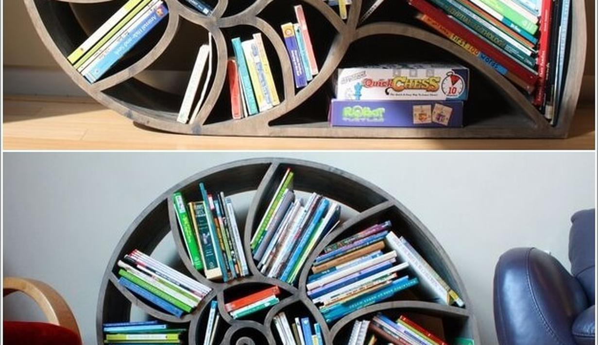 7 Desain Rak Buku Unik Untuk Desain Rumah Makin Menarik ...
