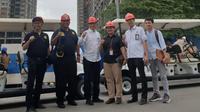 Karo Humas Kemnaker Soes Hindharno saat mendampingi Kunjungan Spesifik (Kunspik) Komisi IX DPR dengan manajemen Meikarta di kawasan Meikarta, Cikarang, Kabupaten Bekasi, Jawa Barat